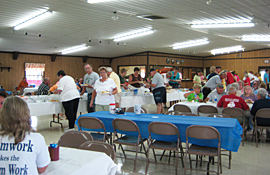 Large recreation hall at Pine Hill RV Park - Kutztown, Pennsylvania